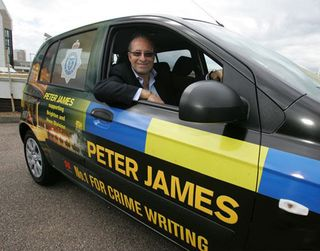 Peter-james-police-car-PJ-driving
